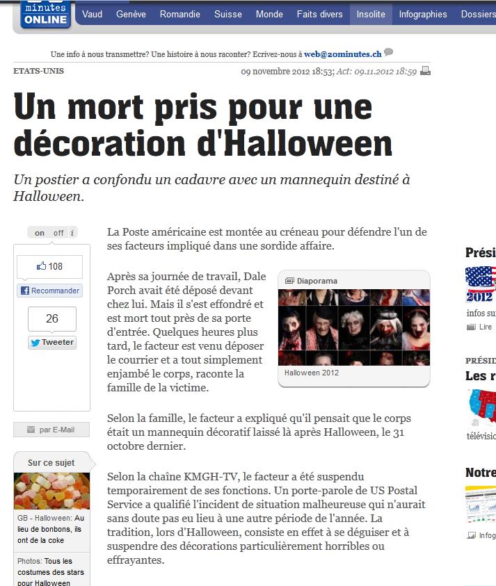 Mort à Halloween